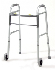 Folding walker with wheels, walker