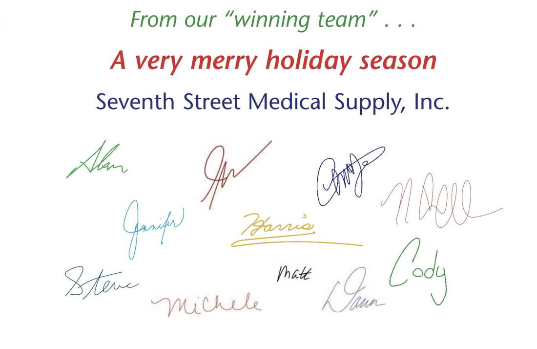 Seventh Street Medical Supply Holiday Card